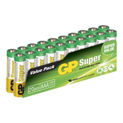 Billede af Batterier ALKALINE AAA 20 stk