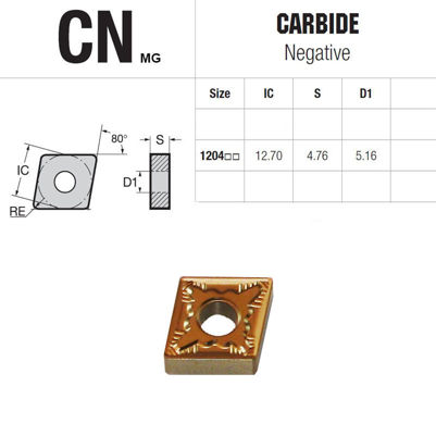 Billede af CNMG 120408-NUP JC9025 PLATTE